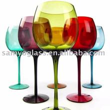 solid color wine glass