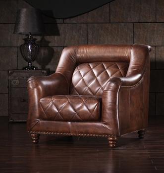 antique style high end leather sofa set vintage industrial sofa chair, View  vintage industrial sofa chair, YAAI Product Details from Foshan Yaai ...