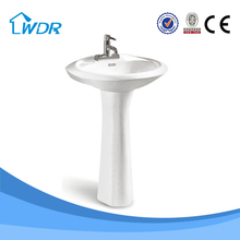 Indoor practical sanitary ware wc traditional pedestal basin