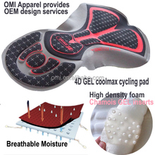 Quality cycling chamois pads Long Distance riding coolmax 3d Cycling Pads chamois Gel Pads