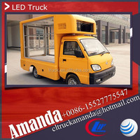 Changan 4*2 53hp p10 led module mobile mini truck xxx video, roadshow truck