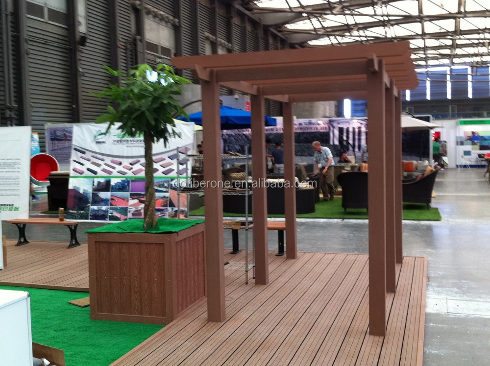 park decoration wood plastic composites wpc pergola