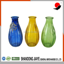 Factory Painted Small Round Flower Glass Vase for Home Decoration