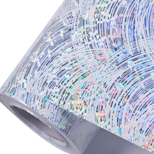 Wholesale PET High gloss glittering rainbow color self adhesive lamination holographic laser film paper Wallpaper