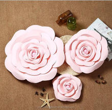 Wholesale high quality Paper flower wall wedding backdrop decoration