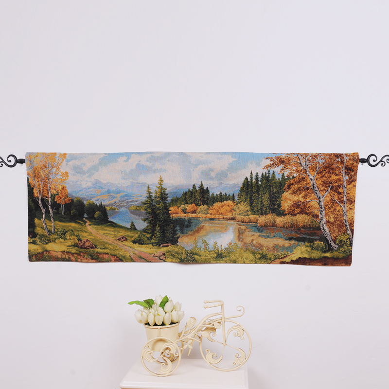PLUS 100% cotton jacquard woven fabric wall hanging gobelin tapestry