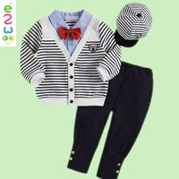 2015 Latest Custom Stripe Fabric Children Boys Three Piece Suit