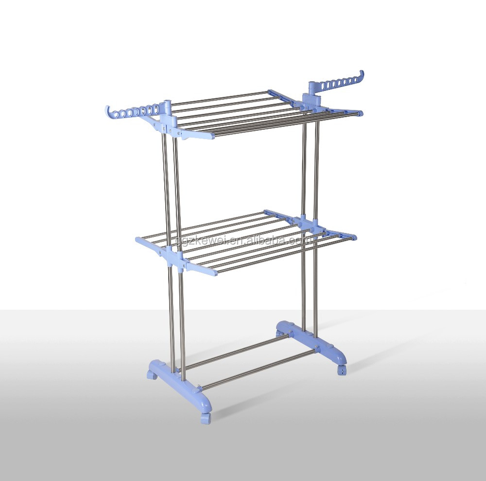 Two layer Stainless Steel Clothe Rack Stand
