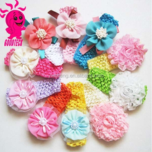 Korea Cute Fashion Hair Accessories For Girls Kids Hair Accessories Flower Knitted Headband