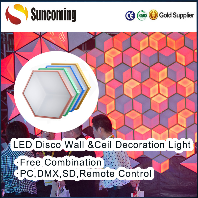 Outdoor / Indoor Party RGB DMX LED Ceilling Panel Hexa Bubble Light