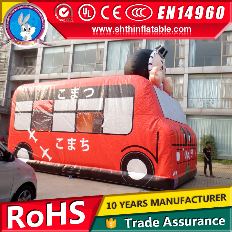 children inflatable bus jumpers bouncer for sale