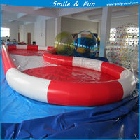 Swimming pool inflatable 10*5*0.5m for kids, paddle boat, bumper boats with CE