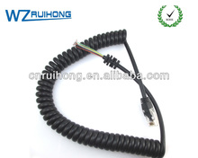 manufacturing of spiral cords with good electrical and mechanical properties