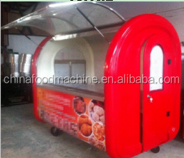 China two wheels Mobile Food Cart design , Fast Food Cart for sale , Electrical Stainless Steel Food Cart