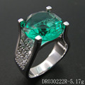 Silver Green Topaz Ring Spinel Jewelry For Fashion DR030222R