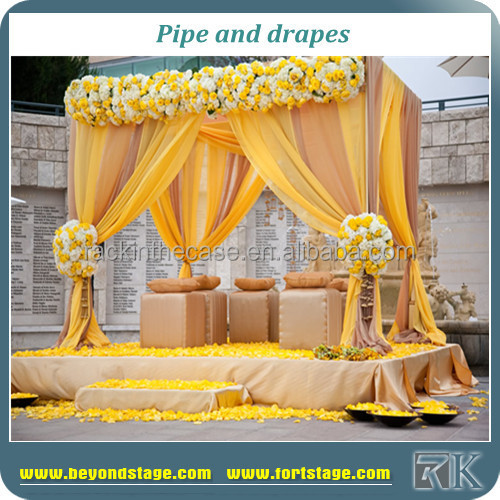 RK indian wedding mandap designs/wedding backdrop curtains/mandap sale india