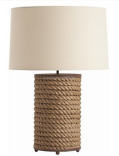 special design artistic wooden table lamp with off white empire lampshade for outdoor restaurant SAA CUL CE ROHS
