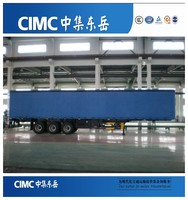 CIMC Dry Cargo Box Truck Trailers, Heavy Duty Enclosed Cargo Van Trailer for Sale