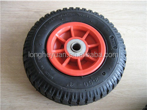 cheap price rubber wheels for hand trolleys carts 2.50-4