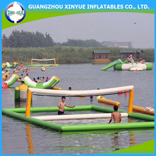New design water game inflatable volleyball court