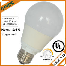 A19 E26 LED Light Bulb Dimmable 800LM 1100LM UL Listed