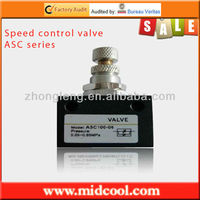 ASC series 1/8 pneumatic control one way air flow valve
