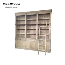 Mrs Woods Factory Supply Classic French Design Bookcase With Ladder