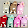 Lovely Lying Rabbit Ear Cell Phone Case 3D Cute Cartoon Mobile Phone Silicone Case For iphone 4s/4 Factory Wholesale