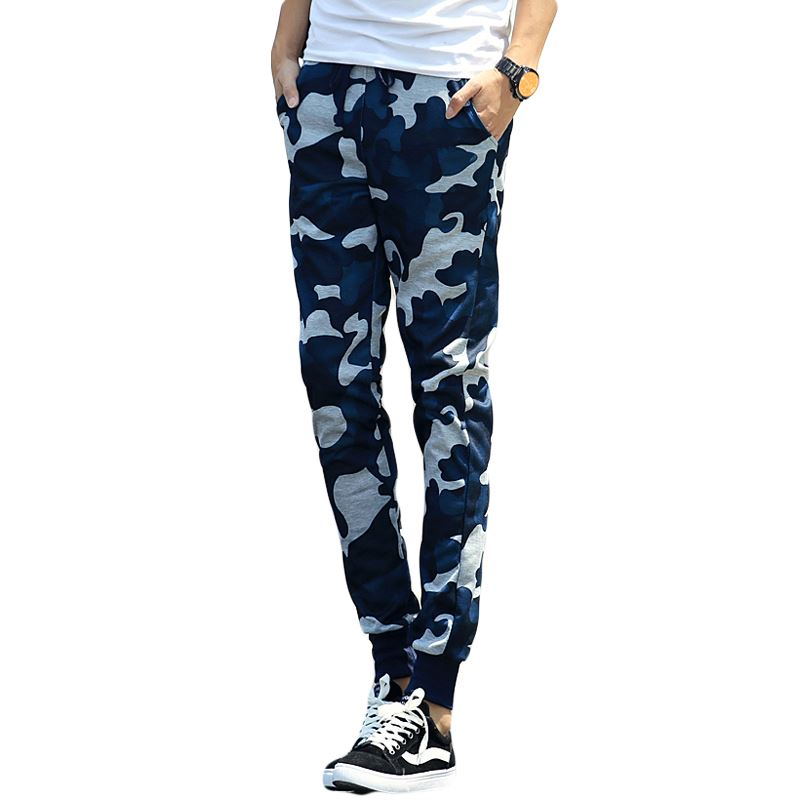 MOON BUNNY Harem Pants New Style 2016 Camouflage Training Mens Joggers Skinny Sweatpants Sport Pants Men Military Army Trousers
