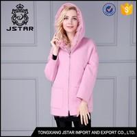 fox fur ladies winter wool coats pink 100 pure cashmere long coat wool