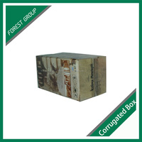 CUSTOM PRINTING CORRUGATED CARDBOARD WINE BOX SIGLE BOTTLE WINE FOLDING CARTON BOX