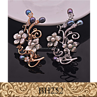 Fancylove Jewelry shell flower pearls zircon brooch ladies high quality dress decoration wholesale