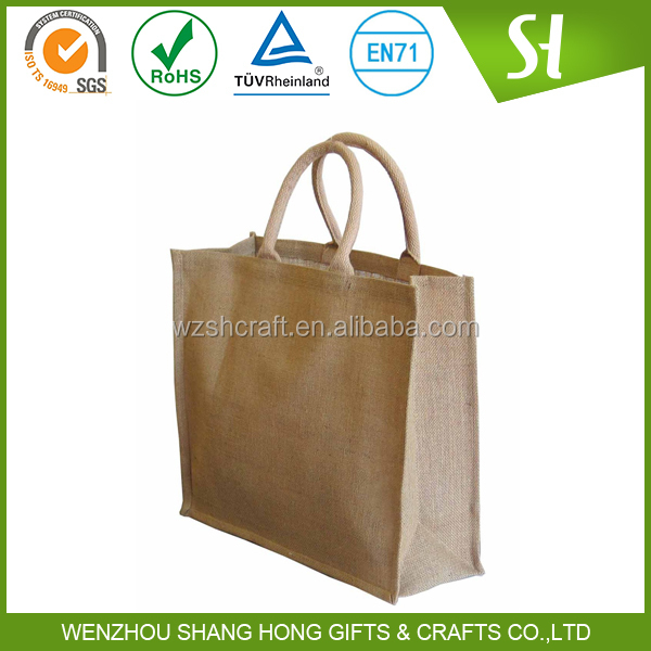 custom logo print wholesale printed jute bag/jute bag with zipper