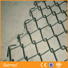 PVC coated green color chain link fencing