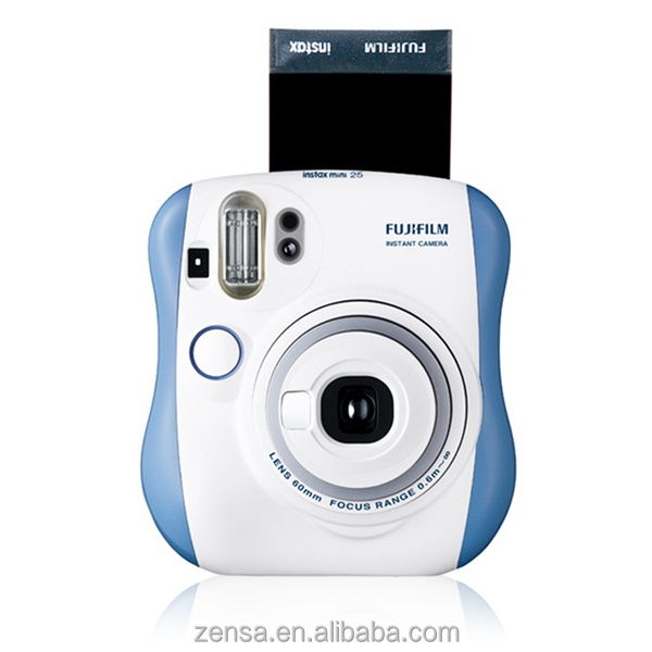 Fuji Fujifilm Instax Mini 25 Camera Blue Instant Film Polaroid Photo