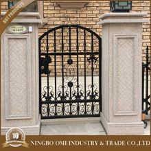 wrought iron gate designs/artistic wrought iron gates/new design high quality & low price ornamental iron gates