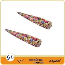 New design!Special colorful best value UV Acrylic custom ear gauge tapers