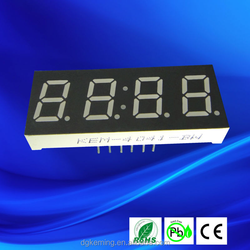 Ultra red 0.4 inch numeric digital 7 segment led display 4 digits