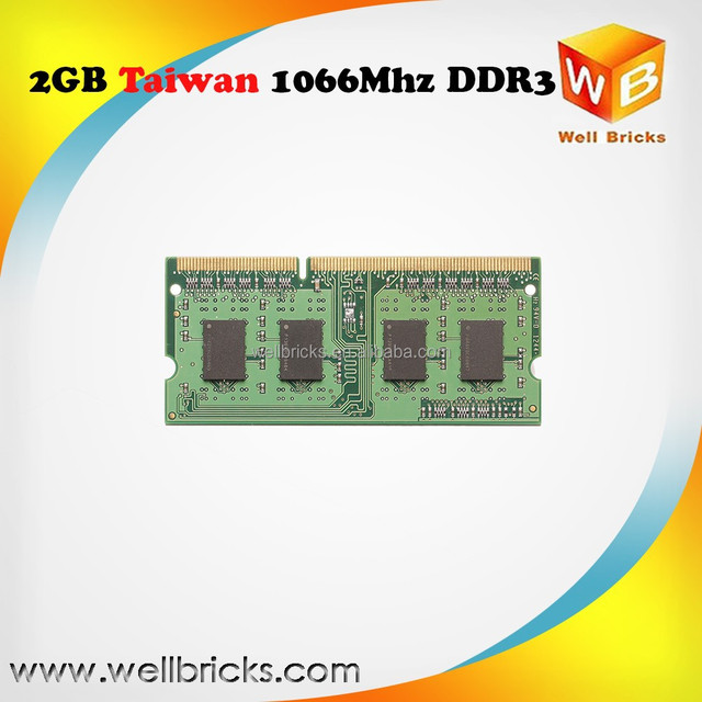 Taiwan factory full compatible ram 1600mhz 1333mhz 1066mhz ddr3 2gb laptop memory