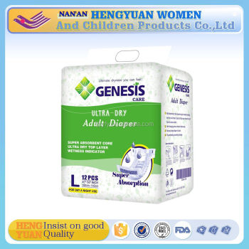 ultra thick adult diaper plain white adult diaper use for old people patient wholesale manufacture in china