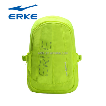 2017 new fashion bright colors wholesale China ERKE teen sports backpack bag