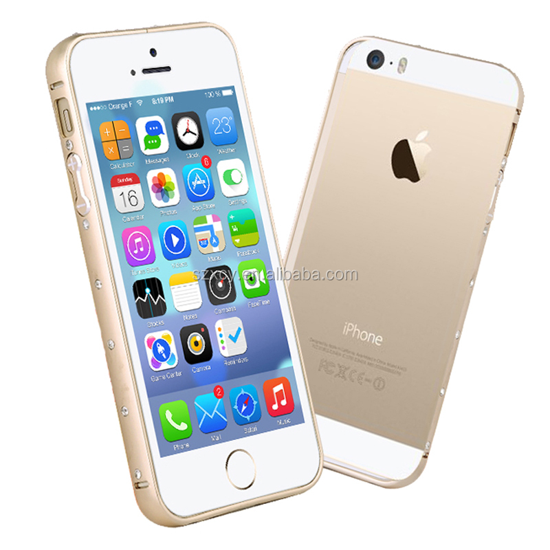 Factory supply popular diamond Aluminum Alloy Metal Bumper Frame Case Cover for Apple iPhone 5 5s