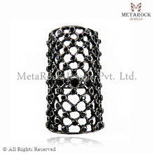 New Designer Royal Art Black Diamond Fashion Jewellery 925 Sterling Silver Ring Jewellery Party Wear Jewelry Online