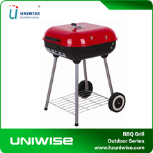 Outdoor trolley portable charcoal bbq grill Simple square hamburger BBQ Grill