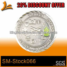 SM-Stock066 diamond cut edge antique silver coins with colored