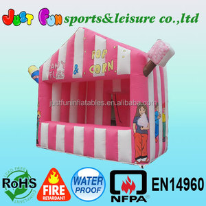 popcorn, cotton candy & ice cream cheap inflatable booth tent