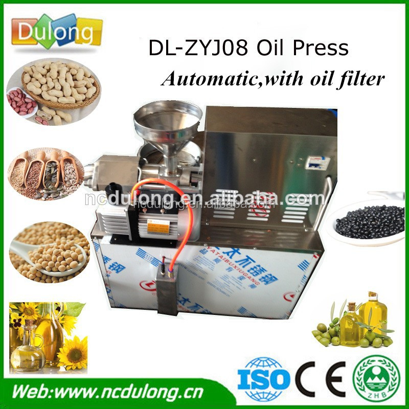 With oil filter and heater olive oil press machine