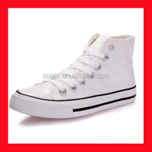 White Canvas Mens High Top Sneakers Fashion Casual Shoe Non Brand
