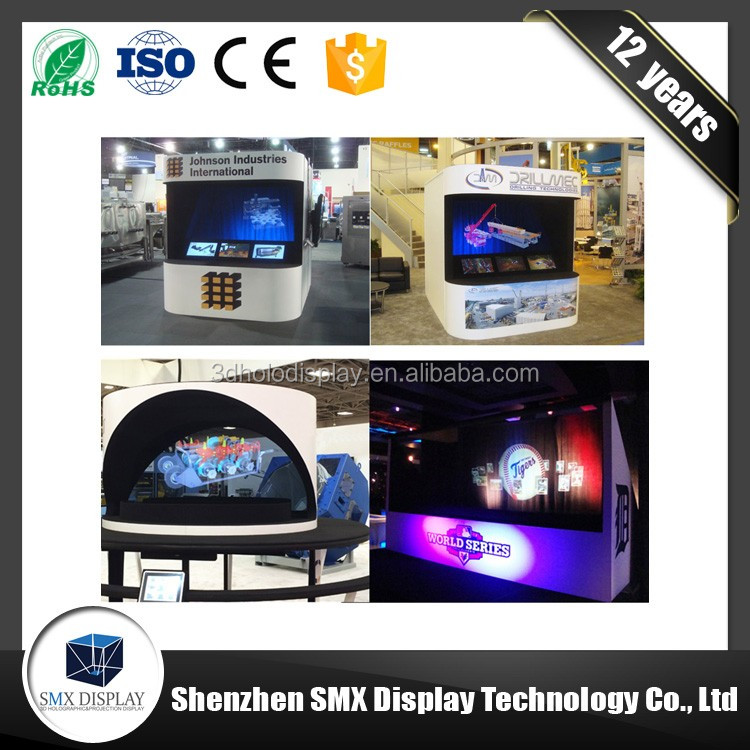 Professional factory supply amazing virtual hologram Full HD 3D holographic projector