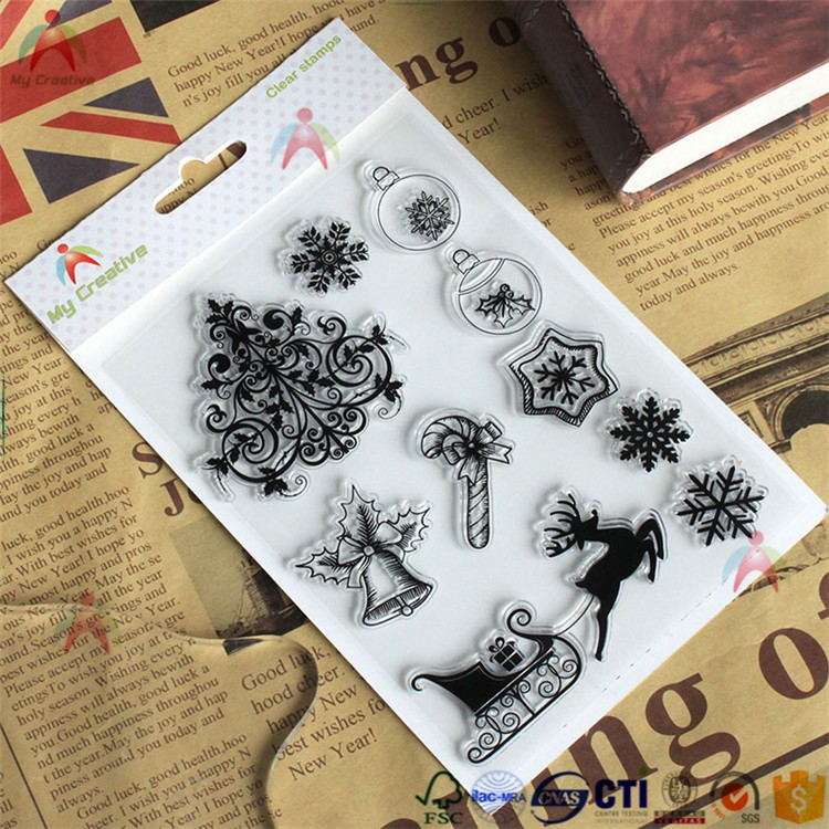 Collection postage stamp set, scrapbook clear stamp and die set